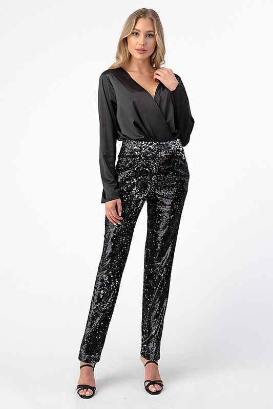 THE SIMMER DOWN CLASSIC SEQUIN PANTS