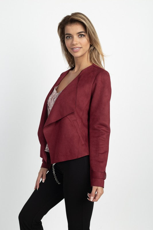 THE EDIT ESSENTIAL FAUX SUEDE JACKET