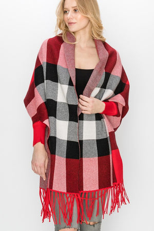 THE CHECKERS WRAP - RED - ONE LEFT!