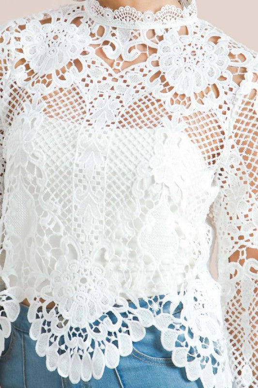 THE LACE LIFE TOP