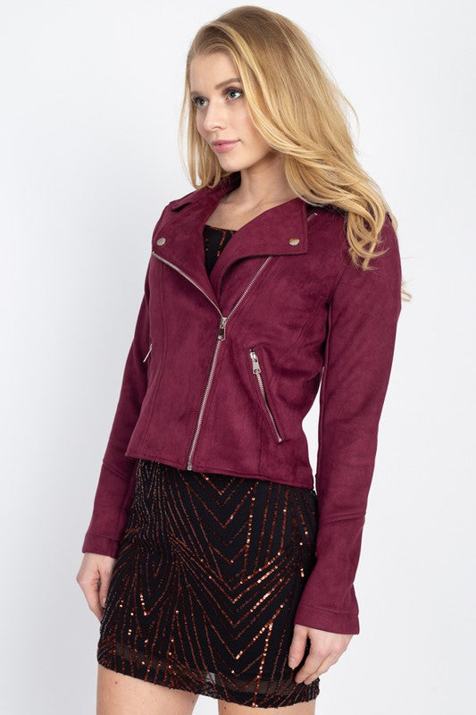 THE MONROE MOTO JACKET - COGNAC