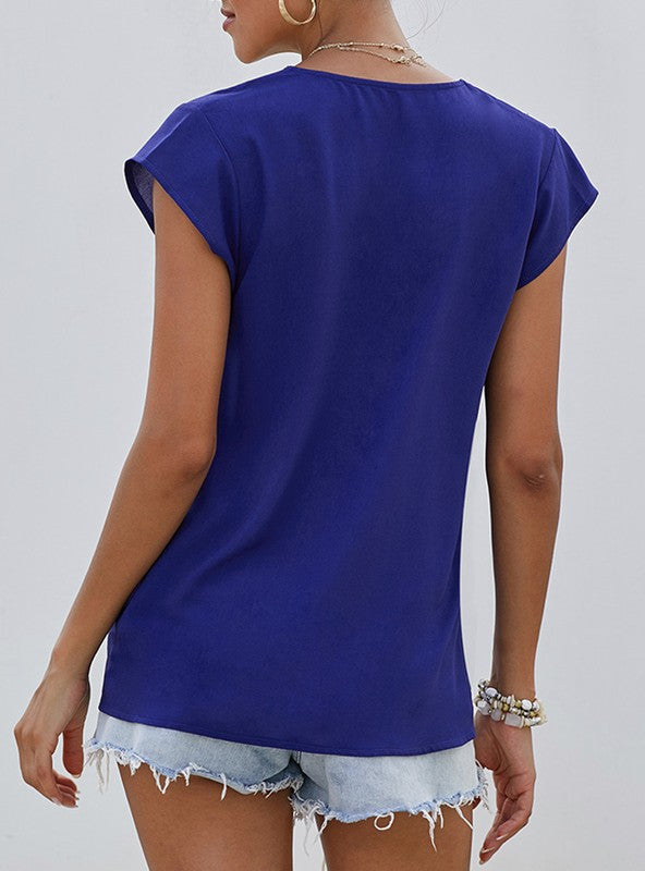 THE JET-SETTER TOP - COBALT