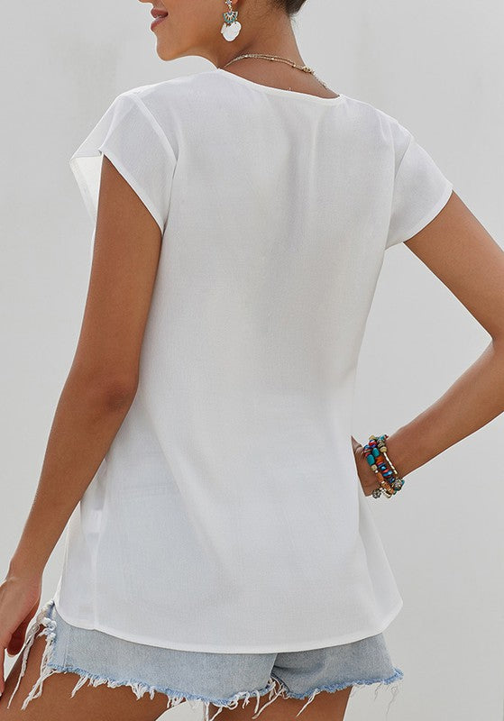 THE JET-SETTER TOP - WHITE