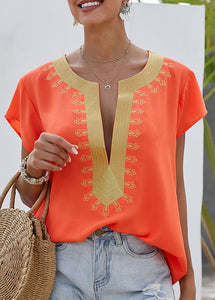 THE JET-SETTER TOP - CORAL