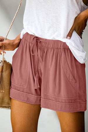 THE EASY-BREEZY DAY SHORTS - DUSTY PINK