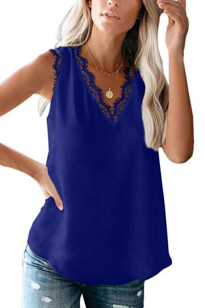 THE CAMILLA TANK - COBALT BLUE