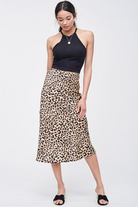 THE WELL-HEELED LEOPARD SLIP SKIRT