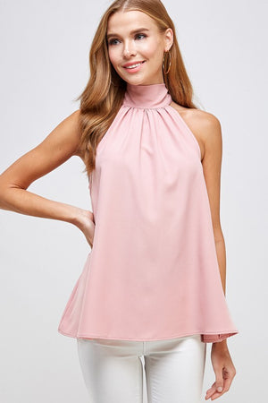 THE SUNSATIONAL HALTER TOP - BLUSH
