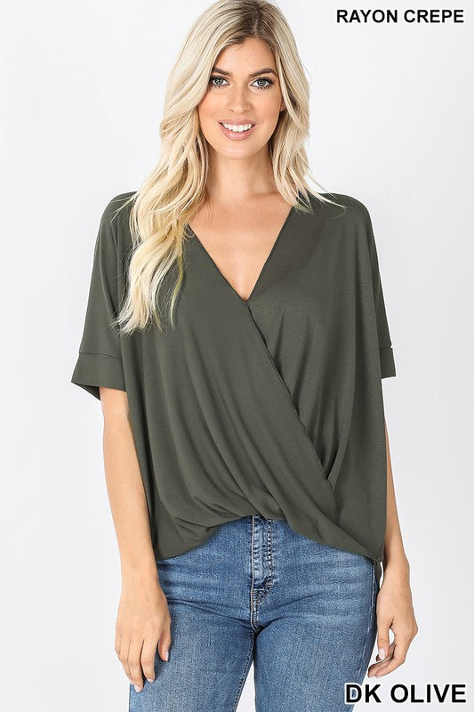 THE SASHA SHORT SLEEVE TOP - NEW COLORS