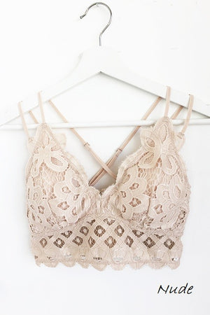 THE ESSENTIAL LACE BRALETTE - TAN
