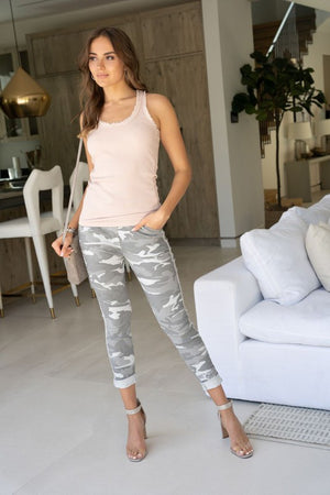 THE MADE IN ITALY CAMO PANTS - LIGHT GREY CAMO