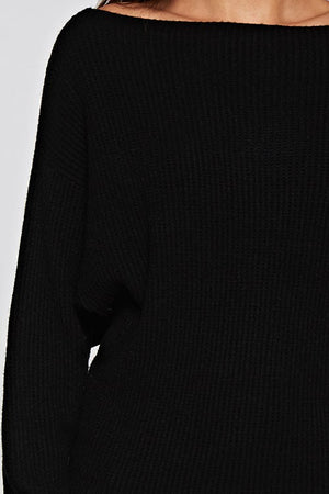 THE ESSENTIAL EDIT KNIT - BLACK