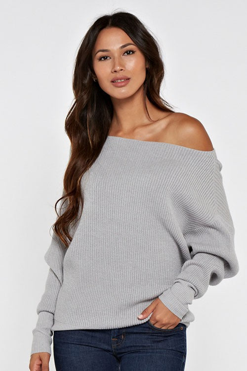 THE ESSENTIAL EDIT KNIT - HEATHER GREY