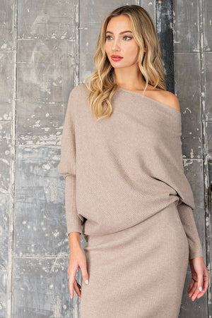 THE ALL NEW ASYMMETRIC SWEATER - CHARCOAL