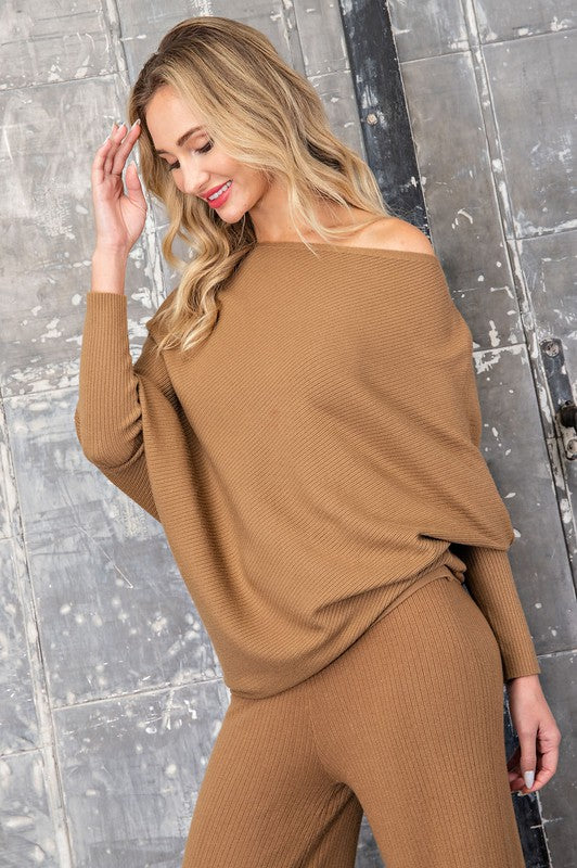 THE ALL NEW ASYMMETRIC SWEATER - CAMEL