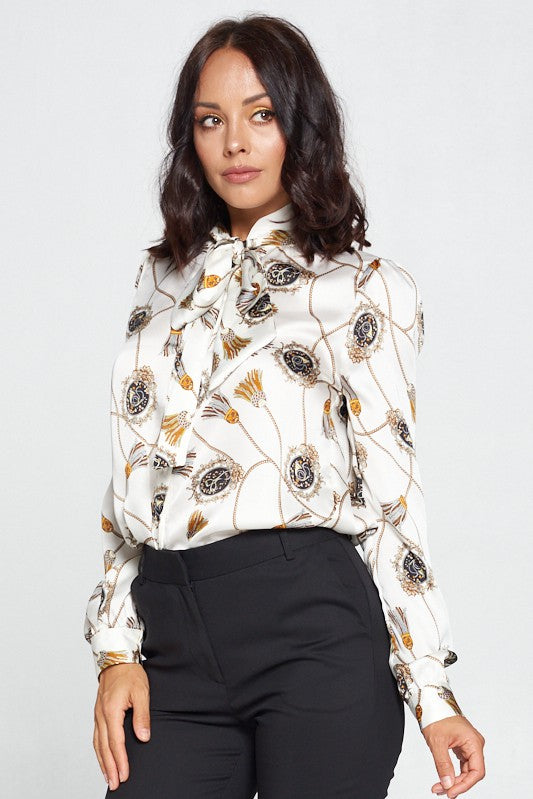 THE KASSIDY SCARF PRINT SHIRT