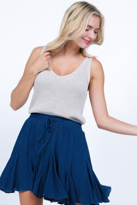 THE WILLOW KNIT TANK TOP - OATMEAL