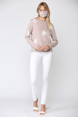 THE ETOILE COTTON KNIT -  BLUSH/WHITE