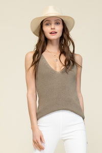 THE WILLOW KNIT TANK TOP - OLIVE