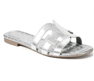 THE H BAND SANDALS - SILVER