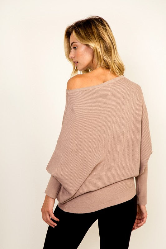 THE ESSENTIAL ASYMMETRIC - CASHMERE MIX