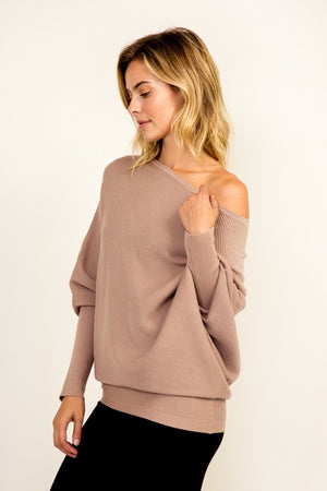 THE ESSENTIAL ASYMMETRIC - CASHMERE MIX - LIGHT MOCHA - BACK IN STOCK!
