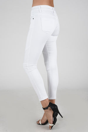 THE WHITE MOTO JEANS