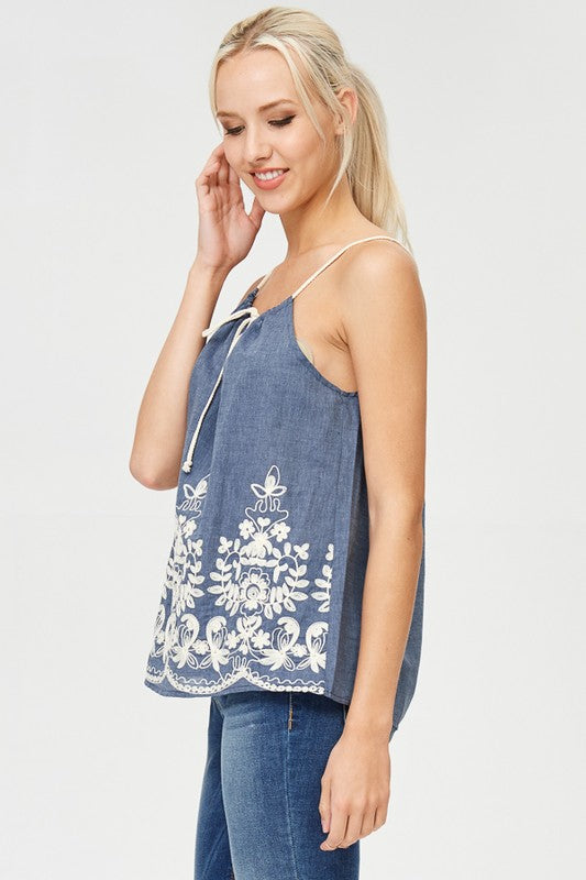 THE POPSICLE EMBROIDERED TANK