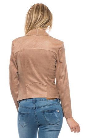 THE HAWTHORNE SUEDE LOOK JACKET