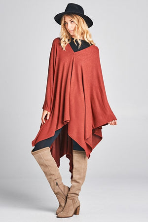THE VALLE PONCHO - BLACK