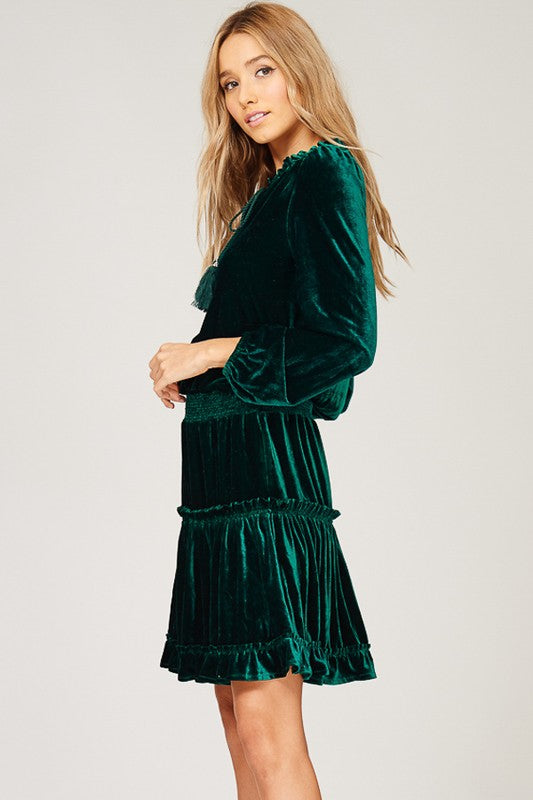 THE EVERGREEN VELVET DRESS