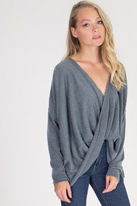THE GEMMA DRAPED KNIT