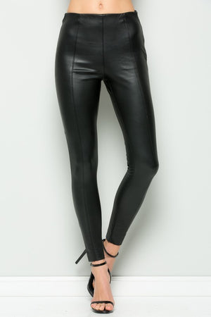 THE HAUTE LEATHER LOOK SKINNY
