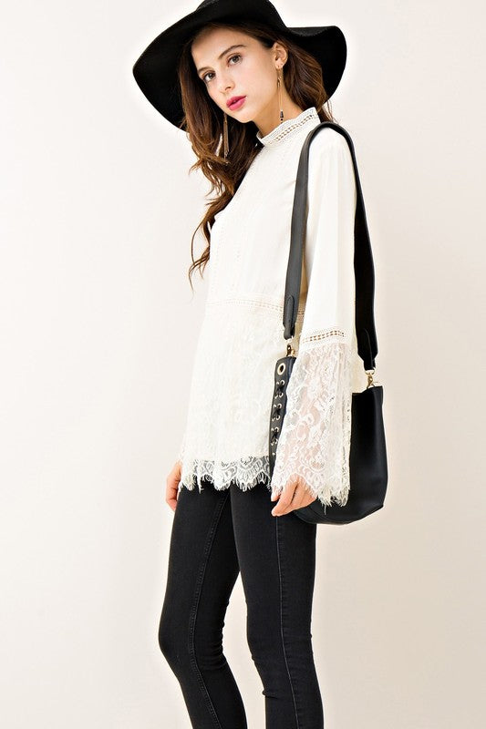 THE SHELL LACE TOP