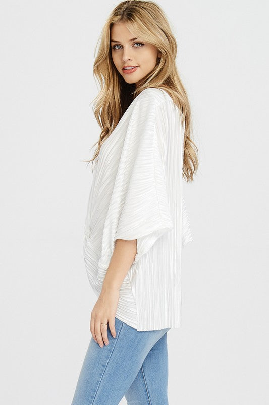 THE JESSAMINE PLEATED TOP