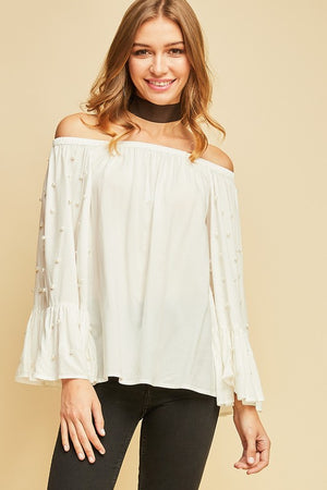 THE LA PERLE TOP WHITE