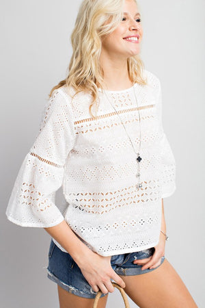 THE SUNNY DAYS EYELET TOP