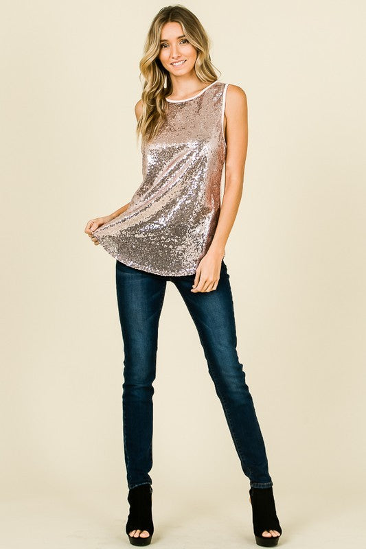 THE GLAM SEQUIN TANK