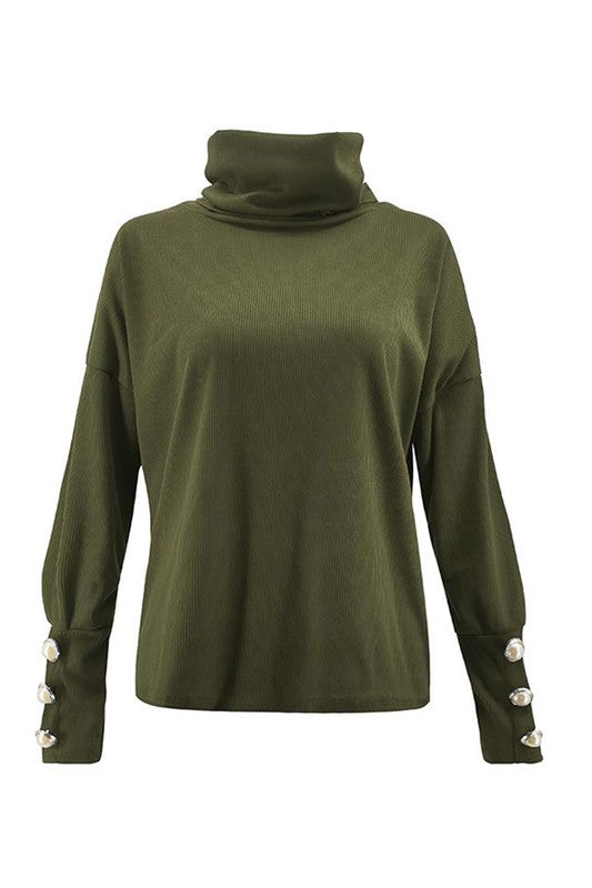 THE ISABEL PEARL KNIT - OLIVE