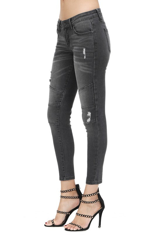 THE BRISTOL MOTO JEANS - BLACK