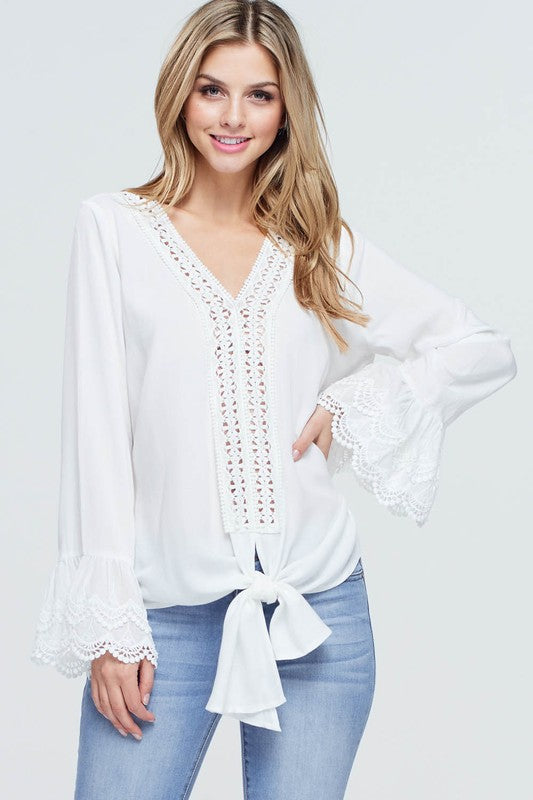 THE LEXI WHITE BLOUSE