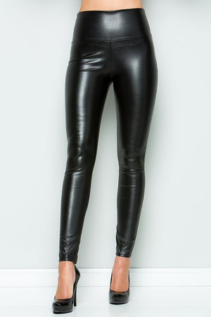 THE OCTAVIA LEATHER LOOK LEGGINGS