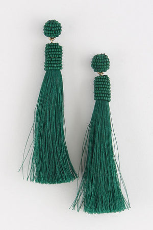 ESSENTIAL TASSEL DROP EARRINGS