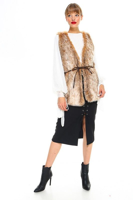 THE VANITY FAUX FUR VEST