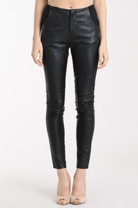 THE ONYX FAUX LEATHER SKINNY PANT