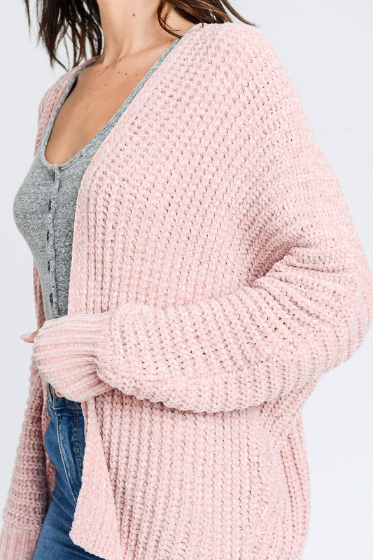 THE STORM CHENILLE SOFT TEXTURED CARDIGAN