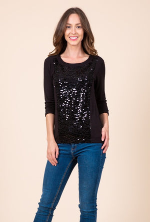 THE GLAZIER SEQUIN BASIC - BLACK