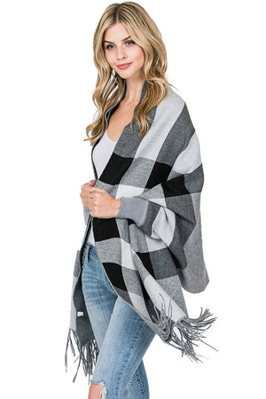 THE CHECKERS WRAP - NAVY