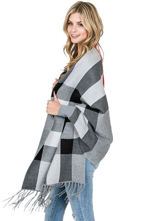 THE CHECKERS WRAP - GREY
