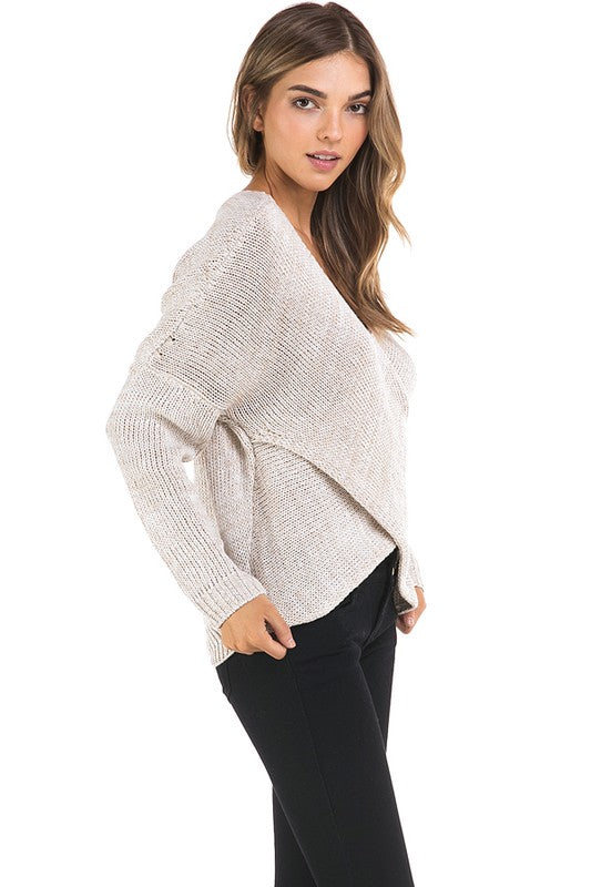 THE ESSENTIAL EDIT WRAP STYLE KNIT